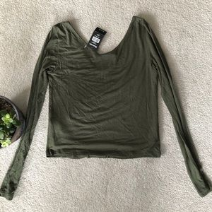 Basic Olive Green Crop Top